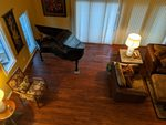Looking Down on a Baby Grand on a Anderson Tuftex Hardwood Floor