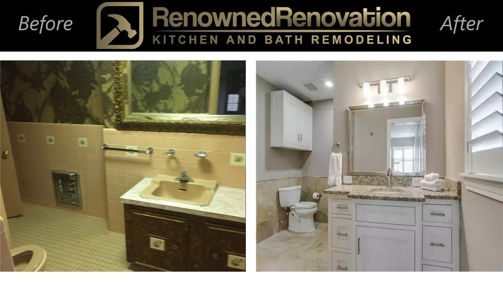 Before and after remodeling pictures renowned renovation for Bath remodel before and after pictures