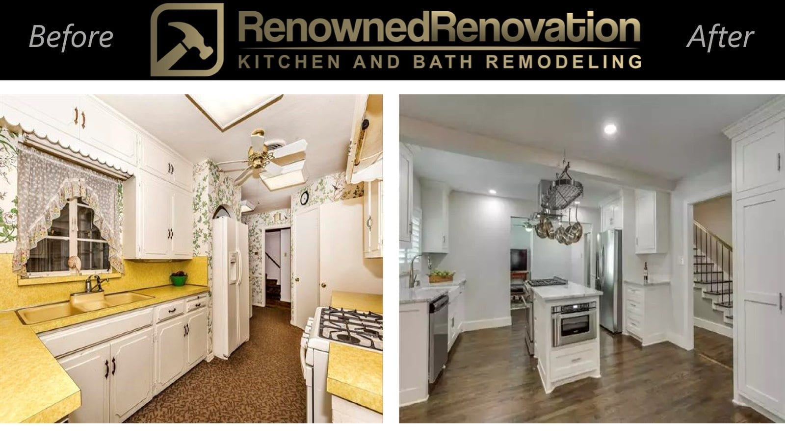 Before and after remodeling pictures renowned renovation for Kitchen remodeling dallas tx