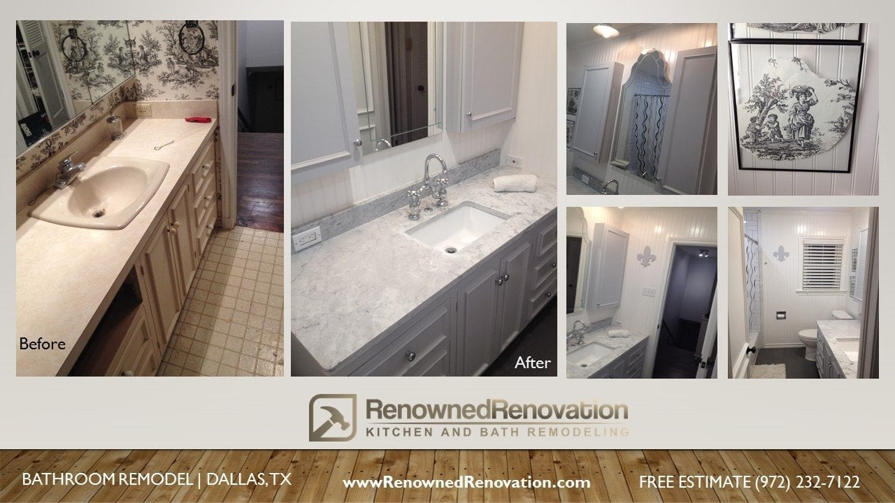 oak lawn townhouse condo master bath remodel - Bathroom Remodel Dallas