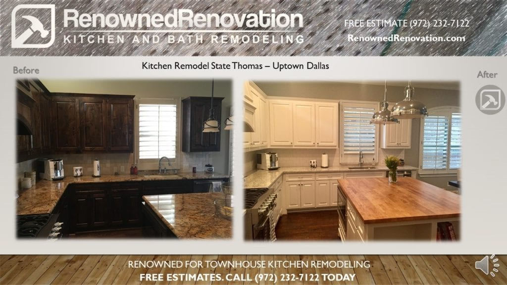 Townhouse Kitchen Remodel State Thomas Uptown Dallas TX 75204