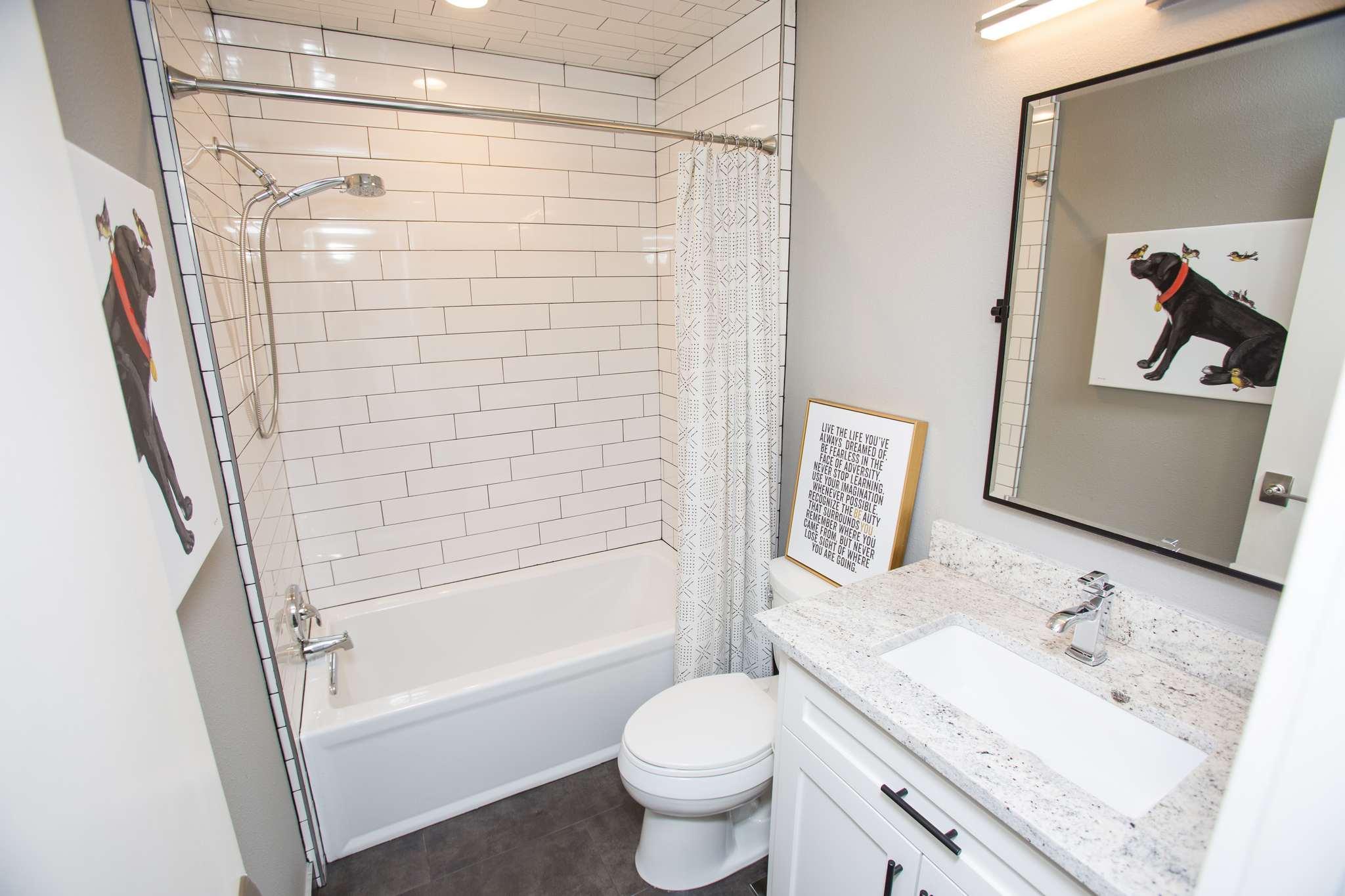Two Bathroom Reconfiguration: Master Bath Gets a Shower