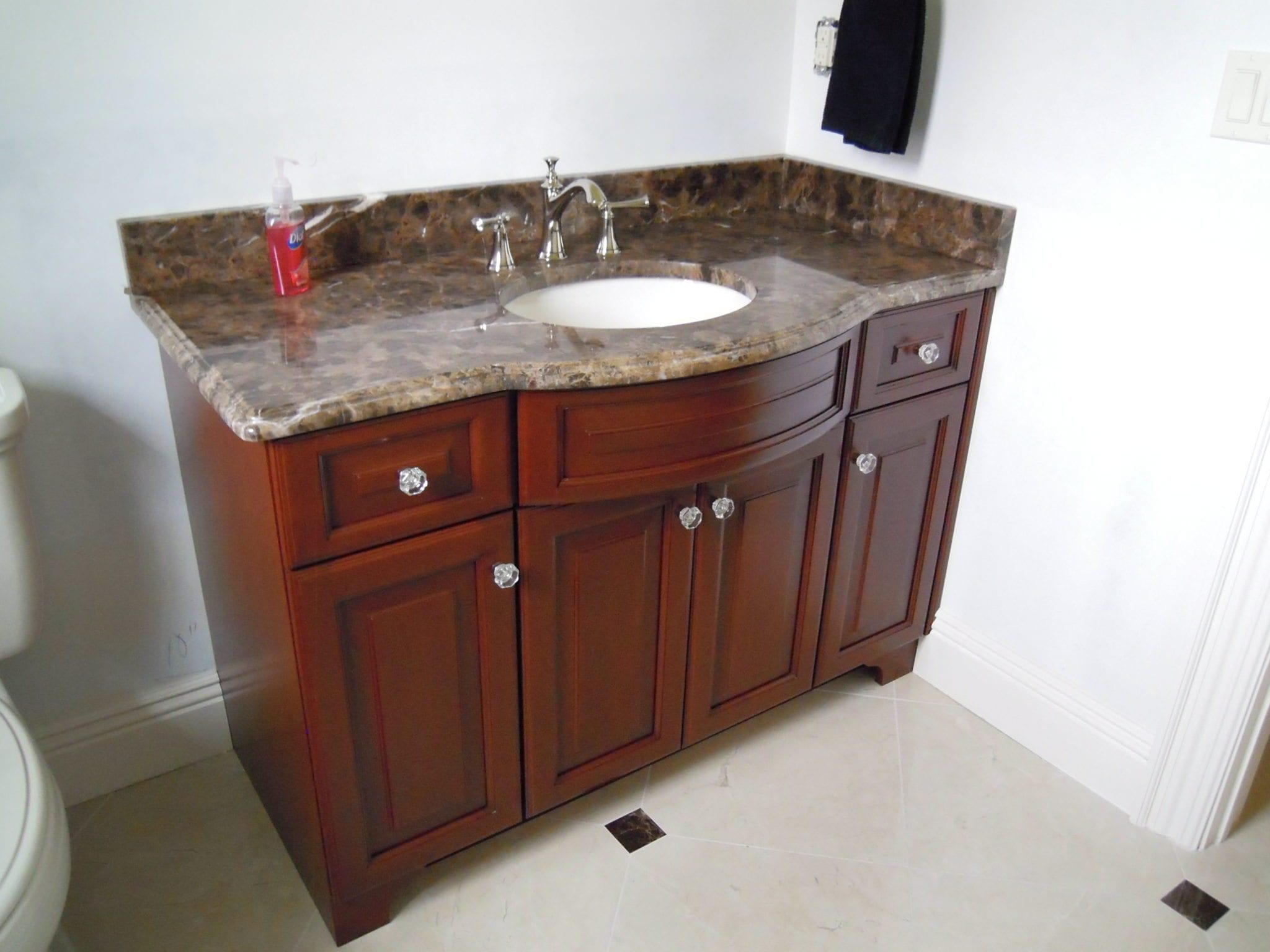 Custom cabinet idea gallery kitchens baths built ins for Custom bathroom vanity designs