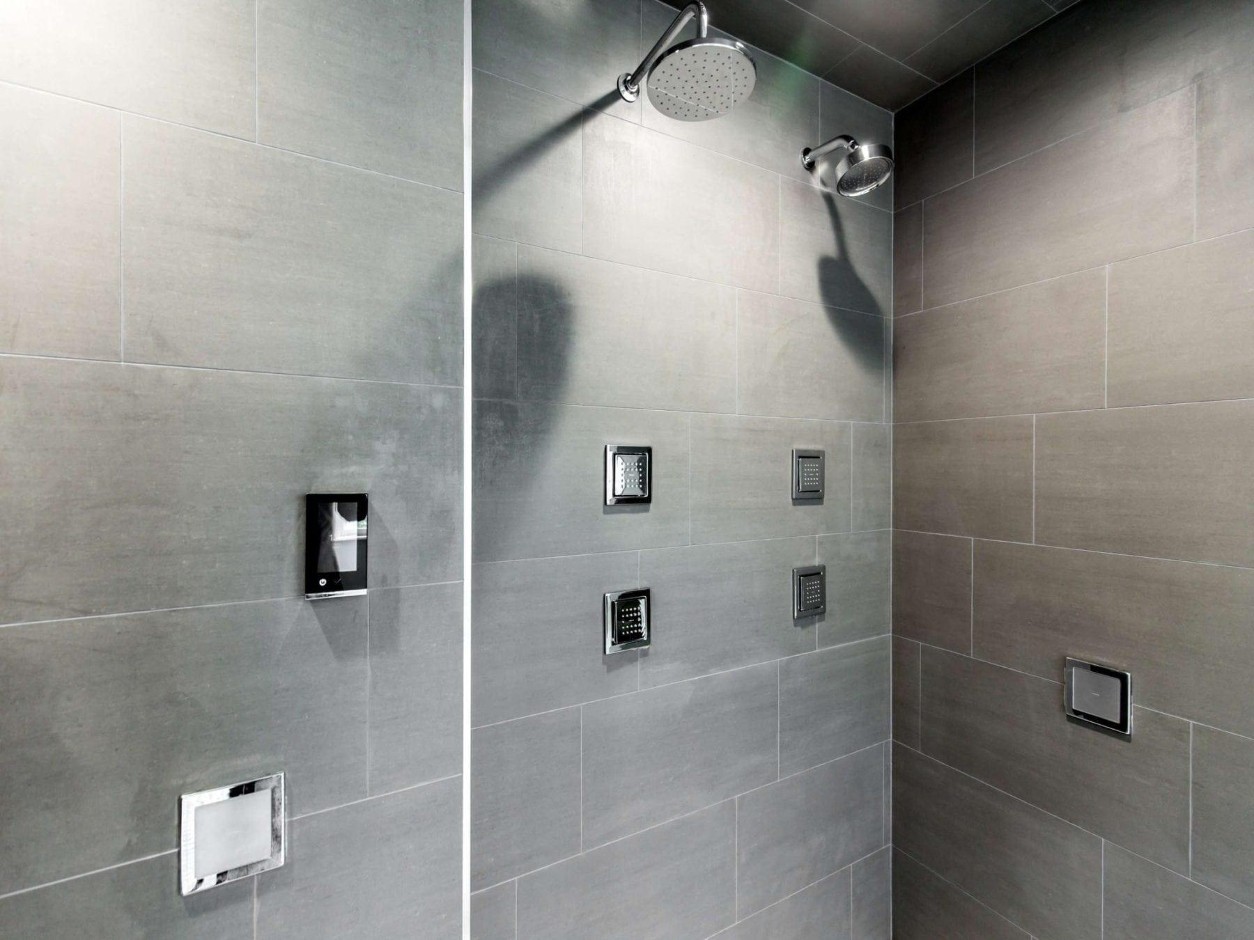 Kohler DTV+Steam Shower  System Master Bathroom After Renowned Renovation Remodel Dallas TX 75206