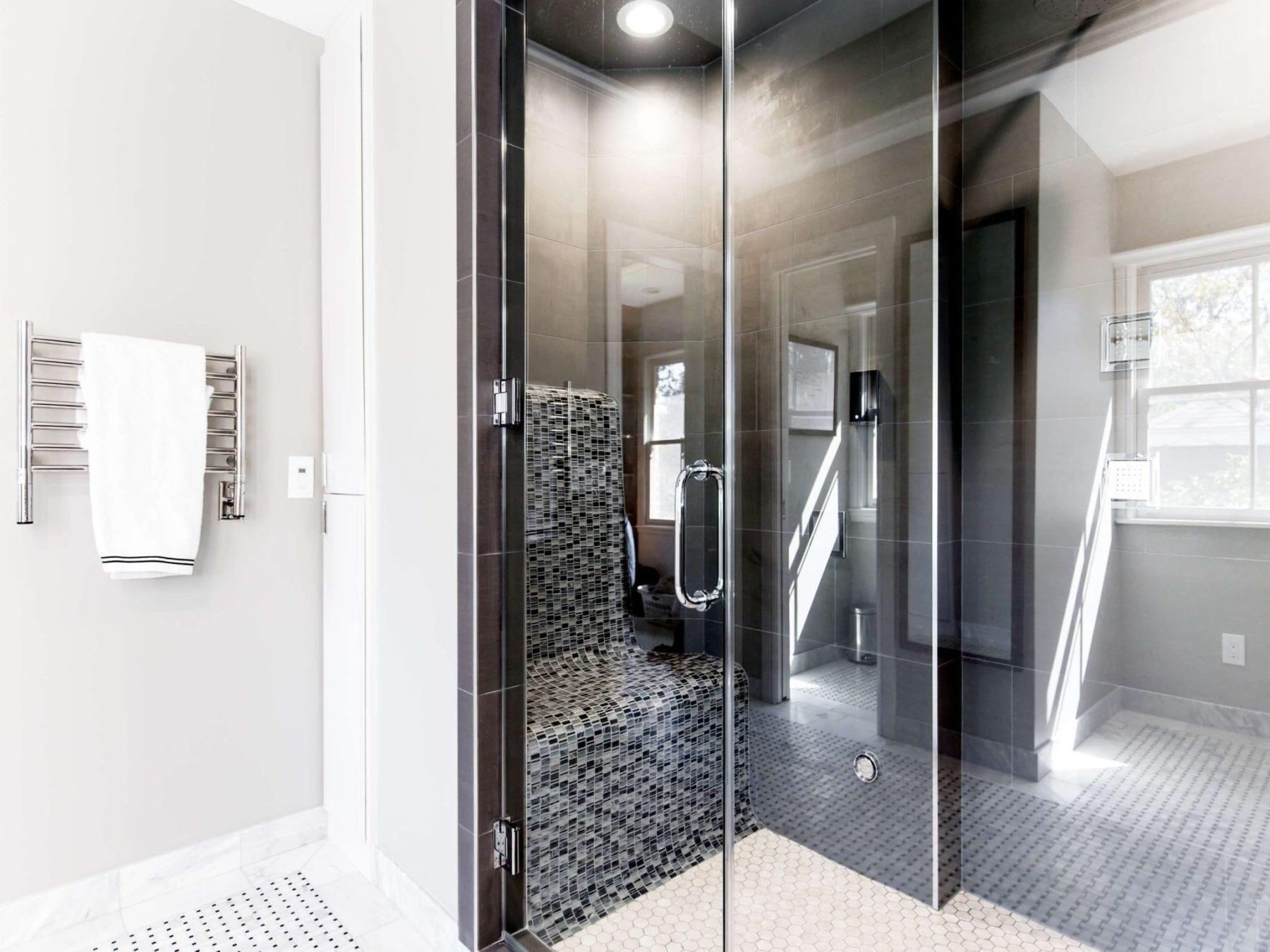 Personal Shower Spa System in Master Bathroom: Dallas,TX 75206