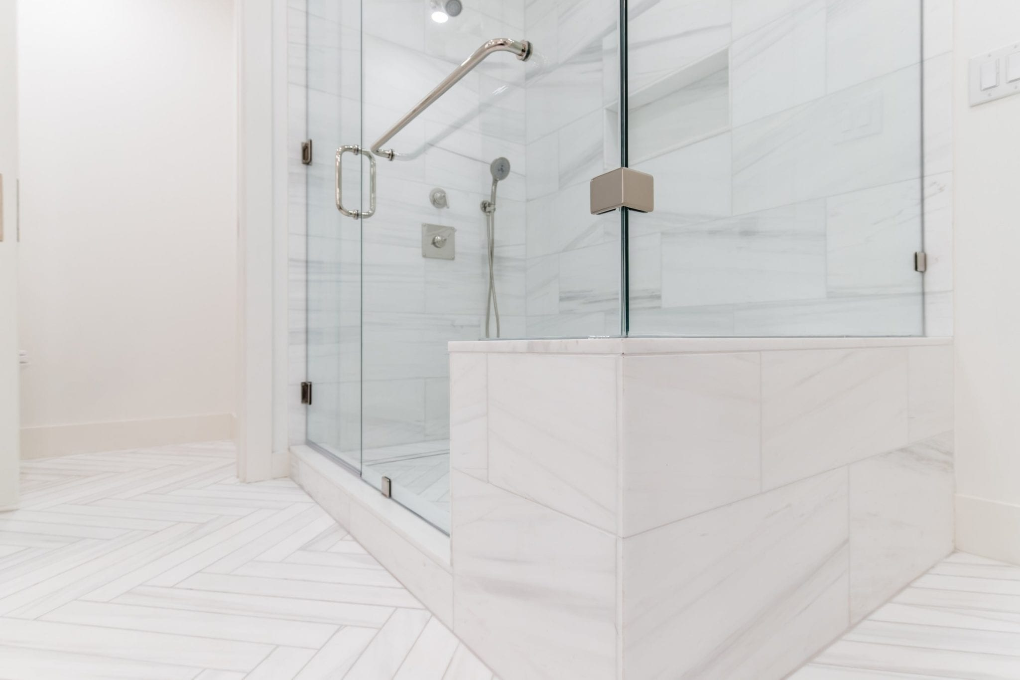 Master-Bathroom-Shower-with-WaterMark-Polished-Nickel-Finish ...