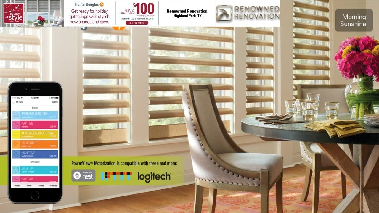 Hunter Douglas Seasonal Rebates Starting at $100. Learn More. Offer Good until Dec 10, 2018