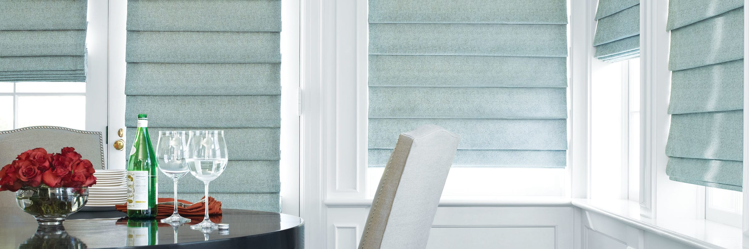 Luminette® Privacy Sheers For wide windows and sliding doors, our Luminette® Privacy Sheers come in an array of sheer and drapery-like fabrics for unlimited light-control and privacy options. Learn more about Luminette® Privacy Sheers.