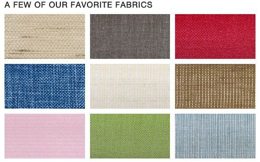 This is just a sampling of our fabric choices. Please contact us to see all colors and textures.