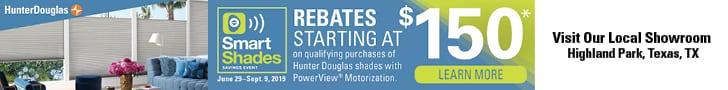 Save $150 On Hunter-Douglas-Motorized-Shades