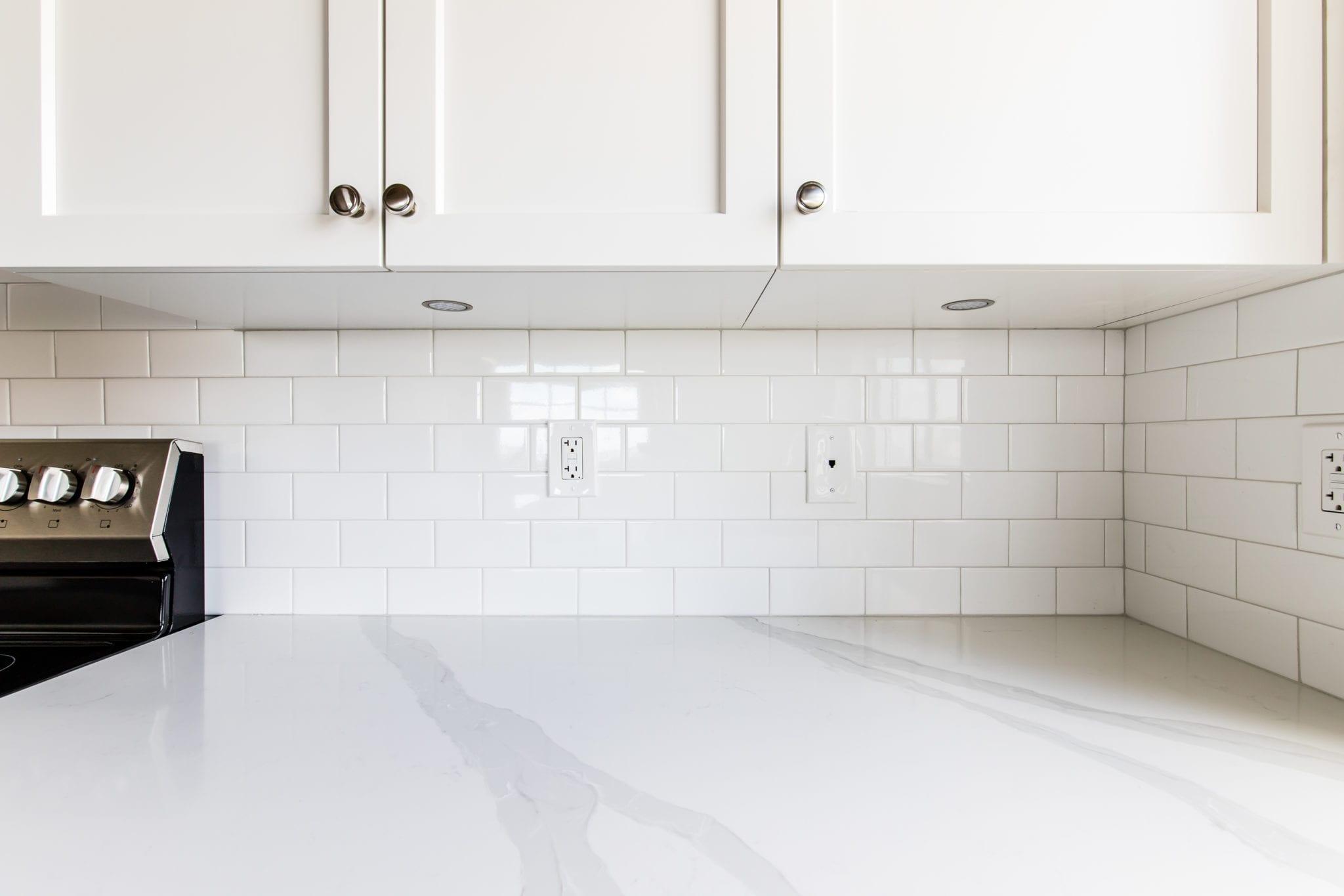 - Daltile Rittenhouse Square Artic White Glossy Tile Backsplash In