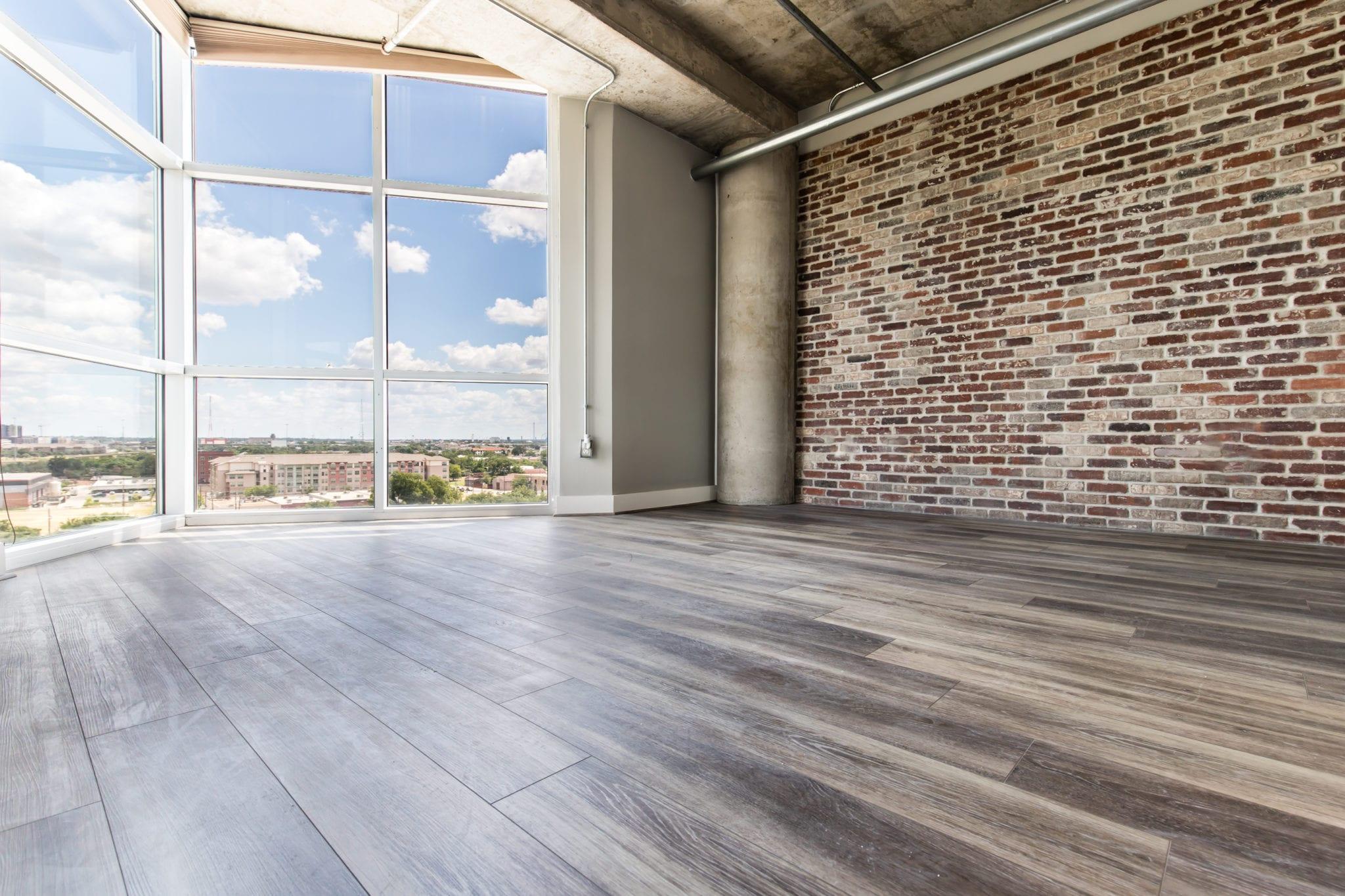 Mid-Rise-Dallas-Condo-Living-Room-Floor-After-Remodeling-Dallas-TX-75215