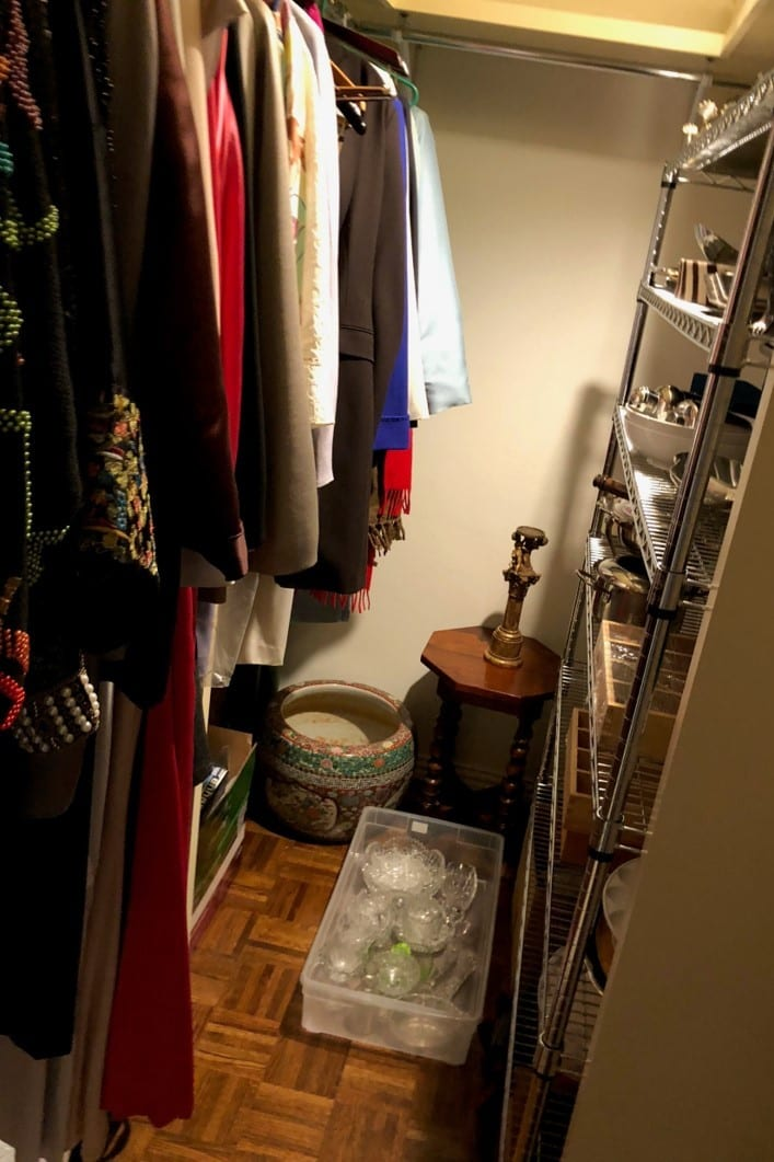 Condo Closet before being converted into a Powder Room