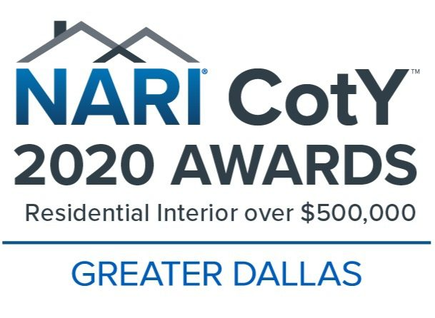 Renowned Renovation Awarded Dallas NARI 2020 Contractor of the Year Residential Interior Remodeling $500.000 Plus Budget