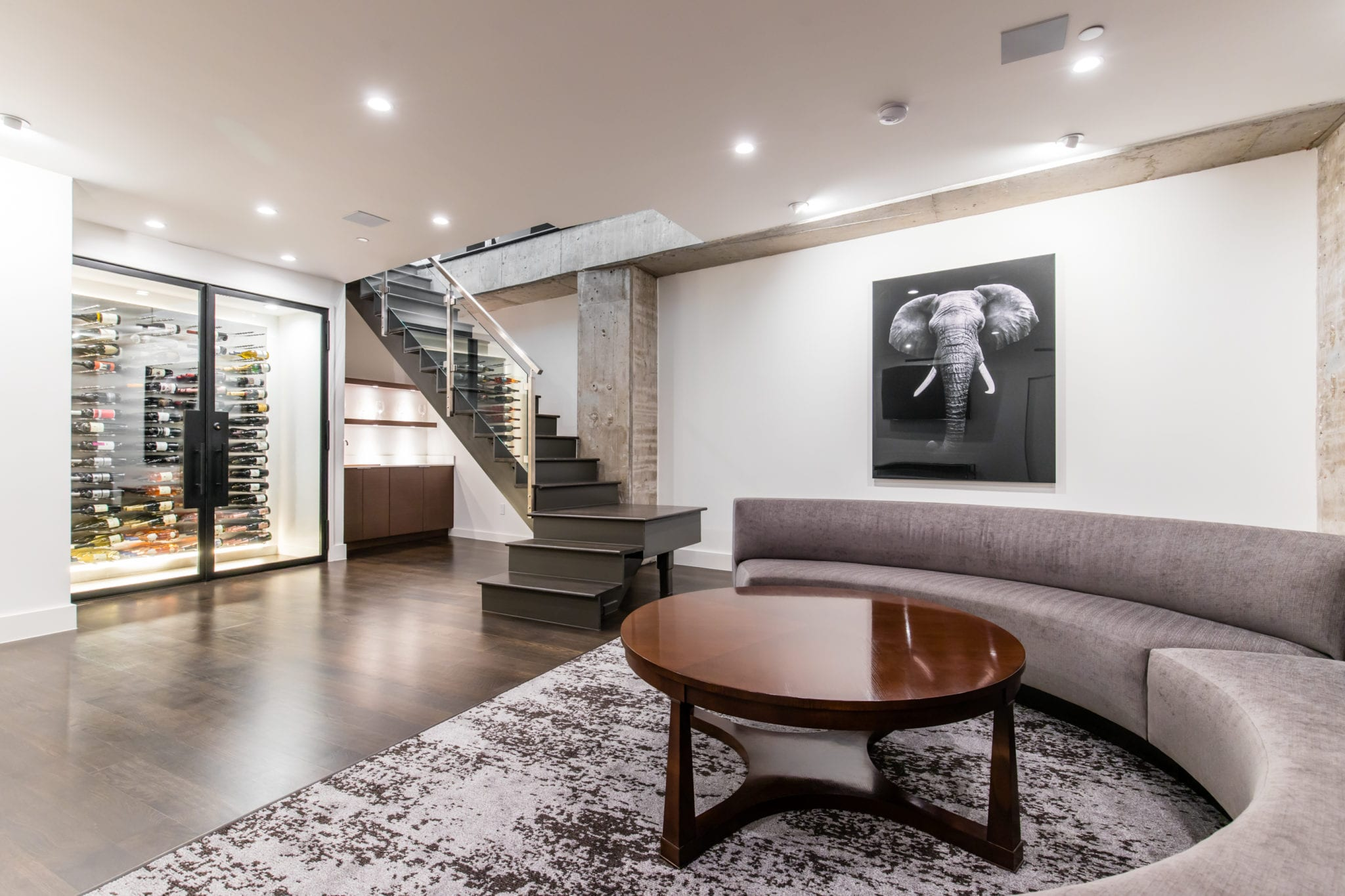 High Rise Wine Cellar in The Travis Center
