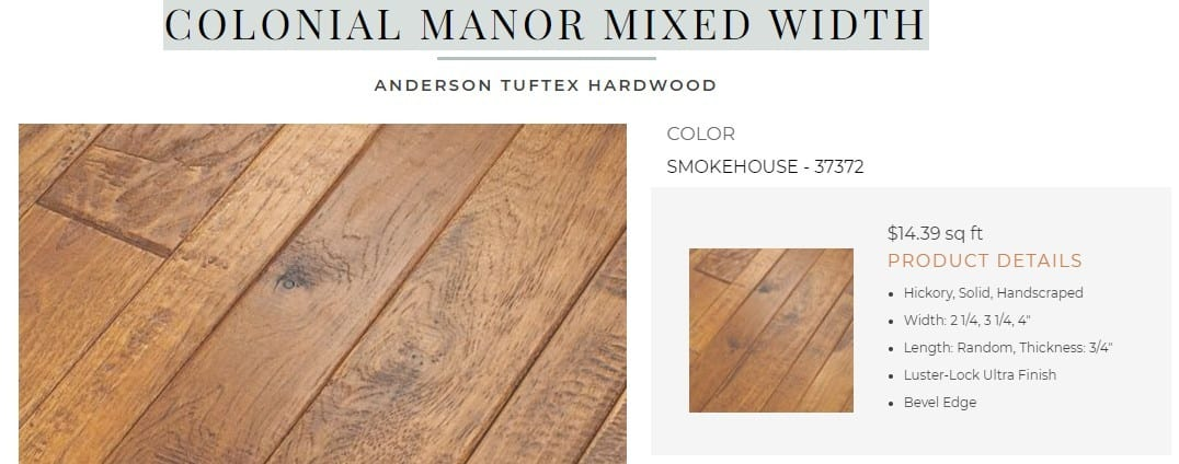 ANDERSON TUFTUX COLONIAL MANOR MIXED WIDTH Flooring