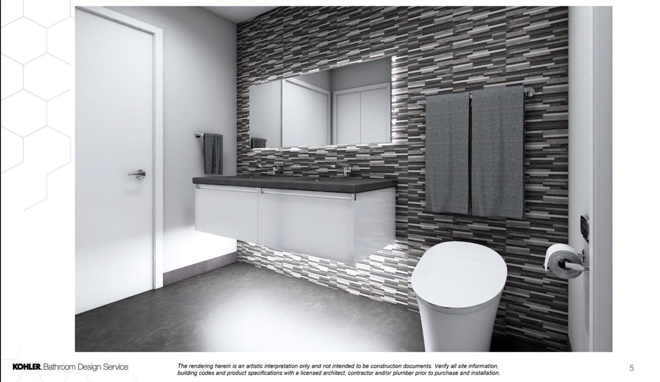 3D Rendering of Kohler Designed Bathroom Remodel