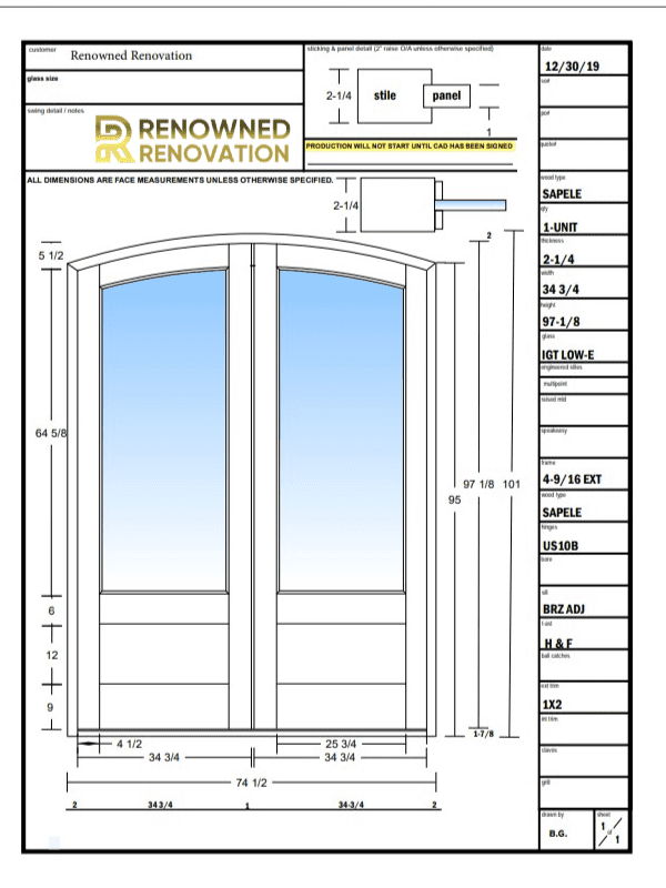 New Front Door Ordered