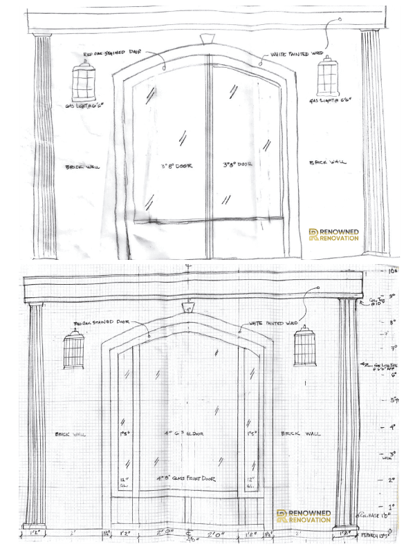 New Front Door Rough Sketches