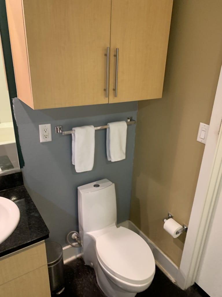 Westside Condo Bathroom Toilet Before Remodel