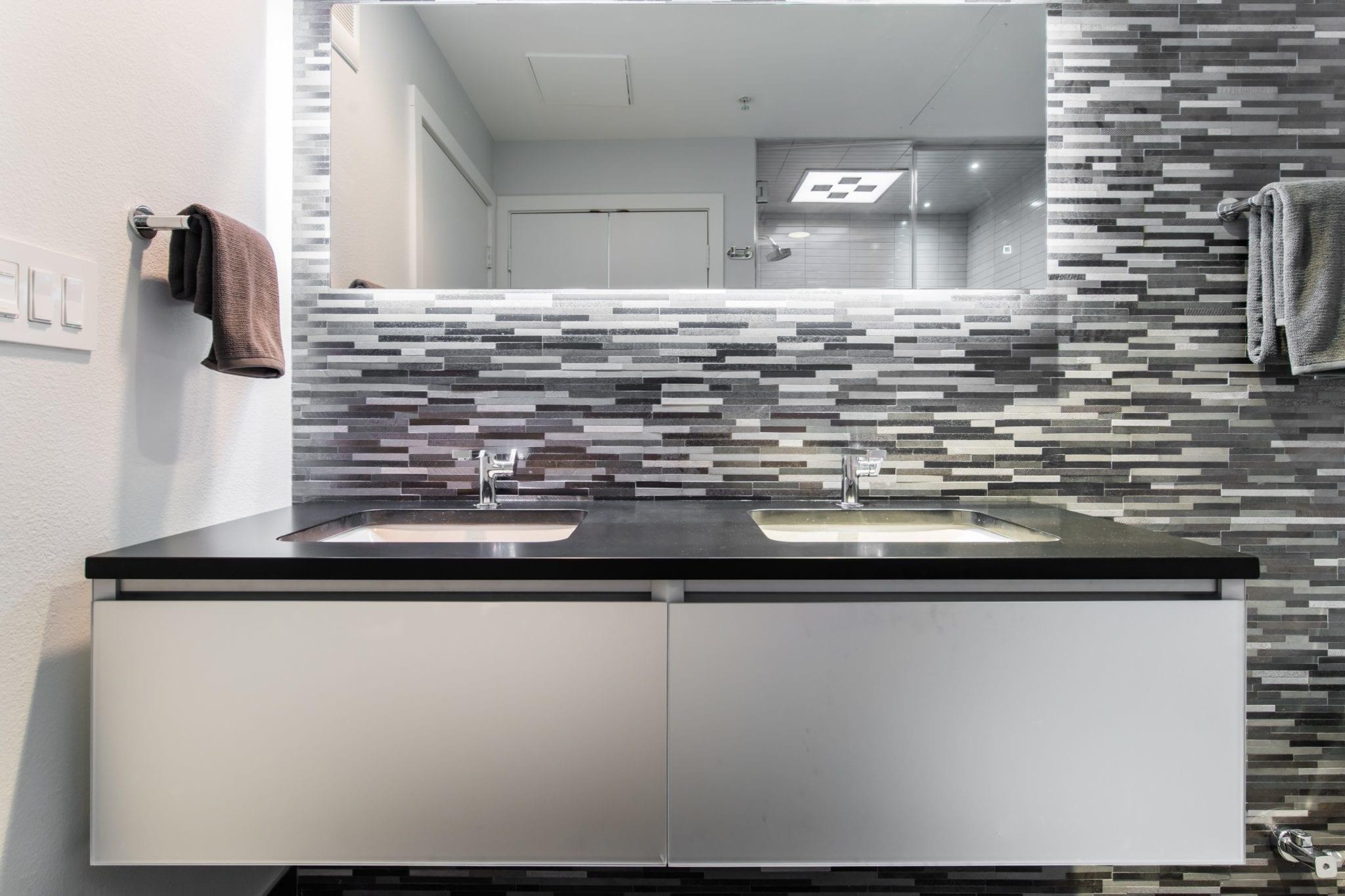 Westside Condo Bathroom Remodel Kohler Cartesian Vanity Dallas 75219