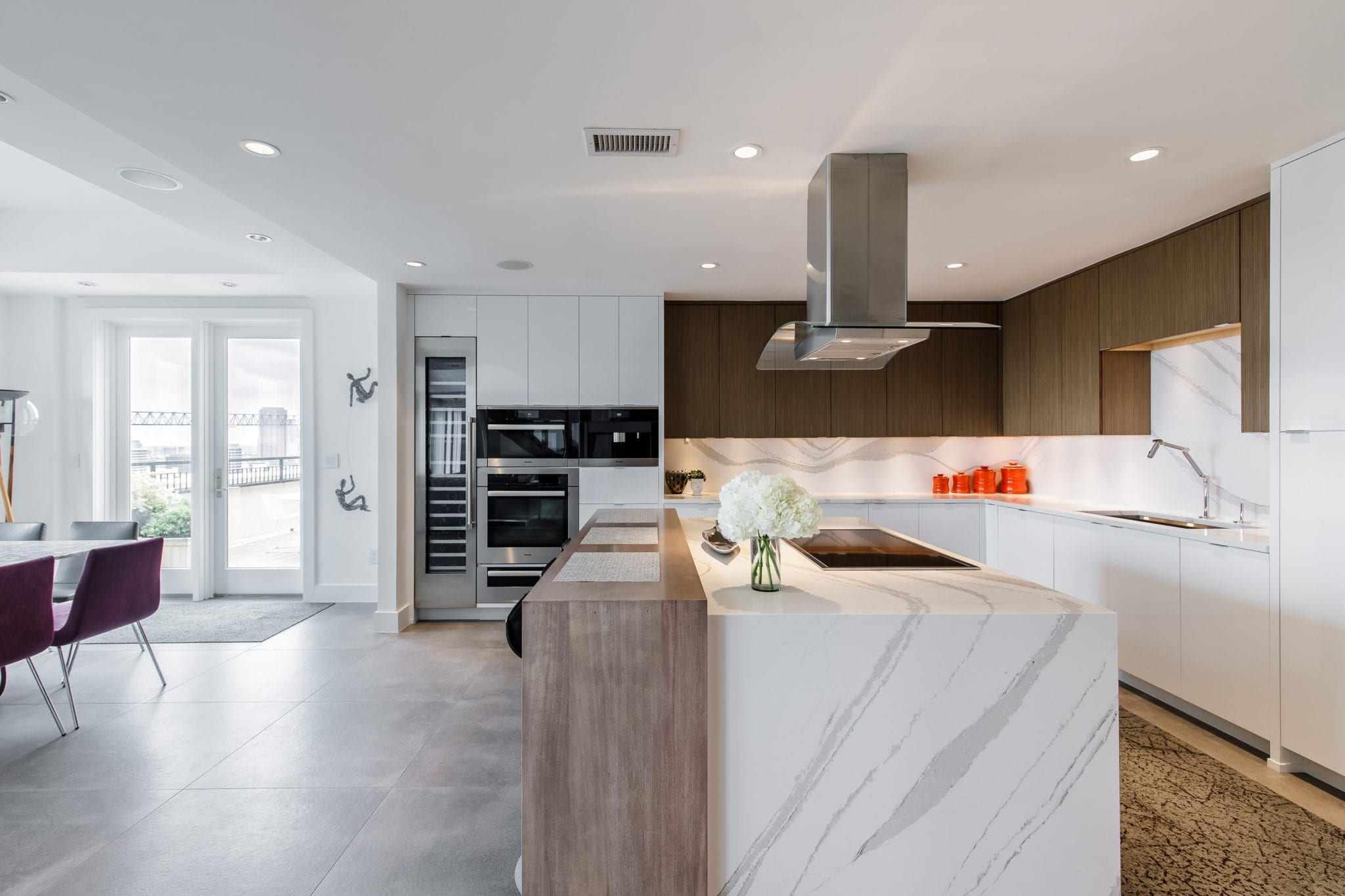 Two Story Penthouse Kitchen Remodel Custom Cabinetry
