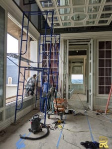 Luxury Penthouse Dining Room During Remodeling Dallas TX