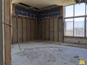 Luxury Penthouse Master Bedroom During Remodeling Dallas TX