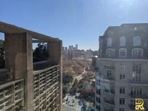 High-Rise Condo Penthouse Kitchen View Before Remodeling Dallas